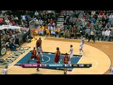 Ricky Rubio - Derrick Williams Alley Oop - Timberwolves vs. Cavaliers (07.01.2012)