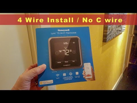 How to install Honeywell Lyric T5 Wi-Fi Thermostat w/without C Wire!