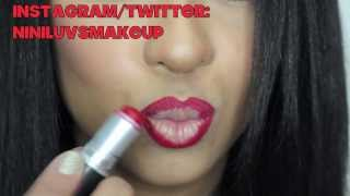 VALENTINES DAY EYES W/ RED GLITTER LIPS: NINILUVSMAKEUP Thumbnail