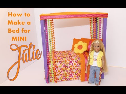 DIY:  How To Make A Bed For American Girl Mini Doll Julie