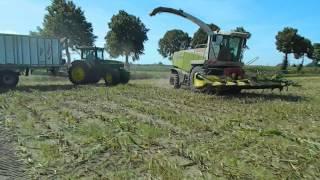 Kiszonka z kukurydzy 2012 i Claas Jaguar 870, JD, Fliegl, Fend, DF