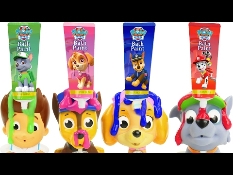 Thumbnail: Best Learning Colors Video for Children Paw Patrol Skye Bath Paint Nesting Toys