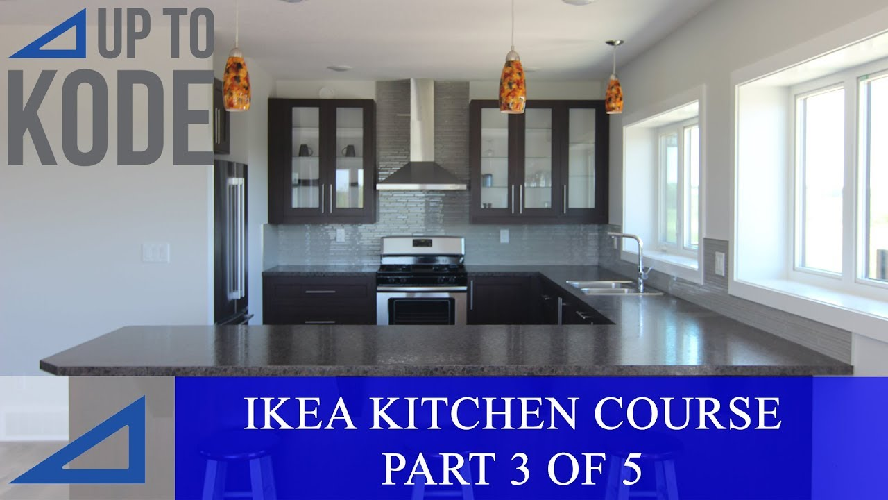 IKEA Kitchen Cabinet Course Part 3 : Installing IKEA Rails U0026 Custom Filler  Panels