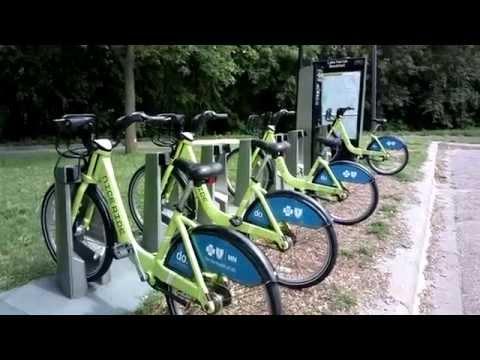 Nice Ride Minnesota bikes and station, August, 2015