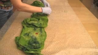 Бесплатный видеоурок по валянию нуно-шарфа. Валяние легкого шарфа из шерсти и шелка. Анонс