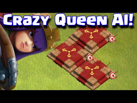 Clash Of Clans Crazy Hero AI Archer Queen Barbarian King Gone Wild