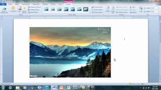 How to move pictures in Microsoft Word 2007-2010
