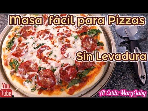 Como hacer masa pizza sin levadura fresca