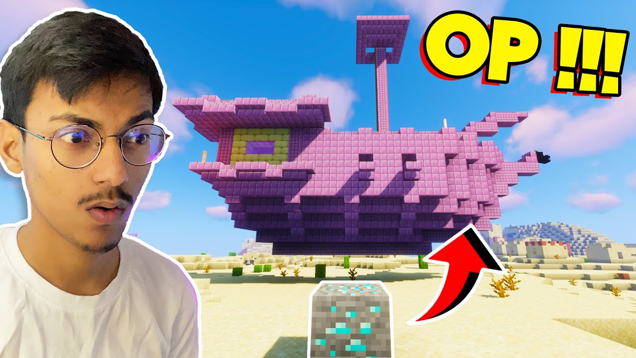 Minecraft, But Ores Spawn OP Structures....