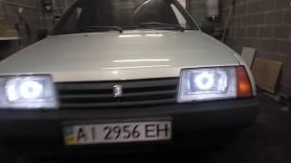 видео Ангельские глазки на ВАЗ 2108, 2109, 21099