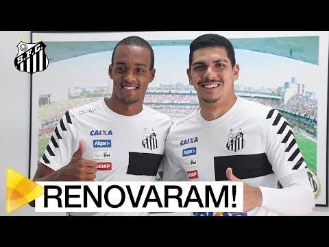 João Paulo e Luiz Felipe renovam com o Santos FC