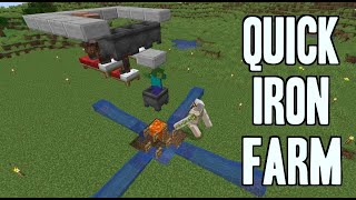 Quick Iron Farm! [5 minute build] | 1.14.4-1.16.3+ Minecraft [CHECK description]