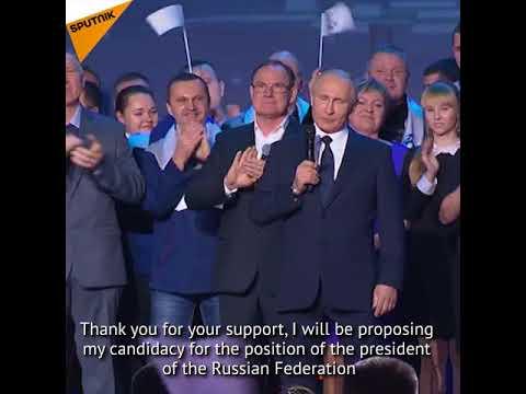 Putin Announces His Decision to Run for President
