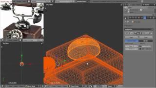 Видеоурок по Blender 2.5. Моделлинг  телефона. Часть 1.