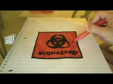 How To Draw A Biohazard Signbydragon Youtube