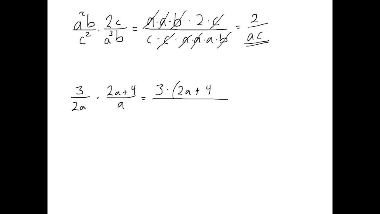Multiplikasjon av brøk med bokstaver