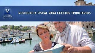 Residencia fiscal para efectos tributarios. [Derecho Tributario]