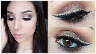 Holiday Look ♡ NYE Wearable Smokey Eye With Glitter Liner