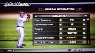 MVP Baseball 2005 (PS2) 2017 Ratings Updates for Tommy Pham, Joe Mauer and a few others on 9/22/17
