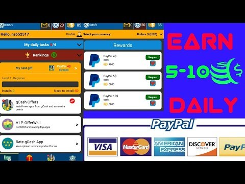 Earn paypal cash 5 -10$ by G cash apk 2018 by Singh technical Make money  Chanel