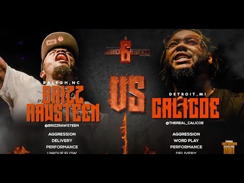 CALICOE VS BRIZZ RAWSTEEN SMACK/ URL RAP BATTLE