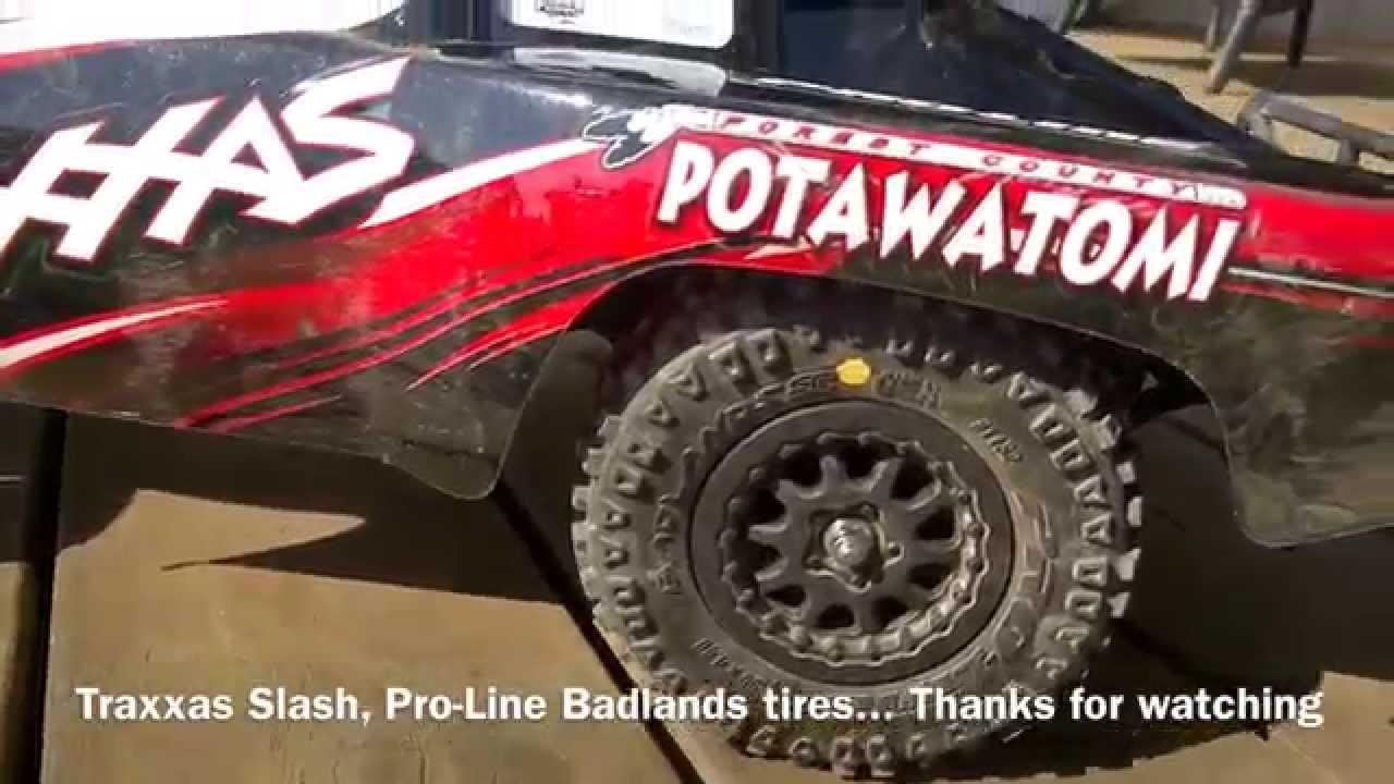 Traxxas Slash 2WD RC, Pro-Line Badlands tires