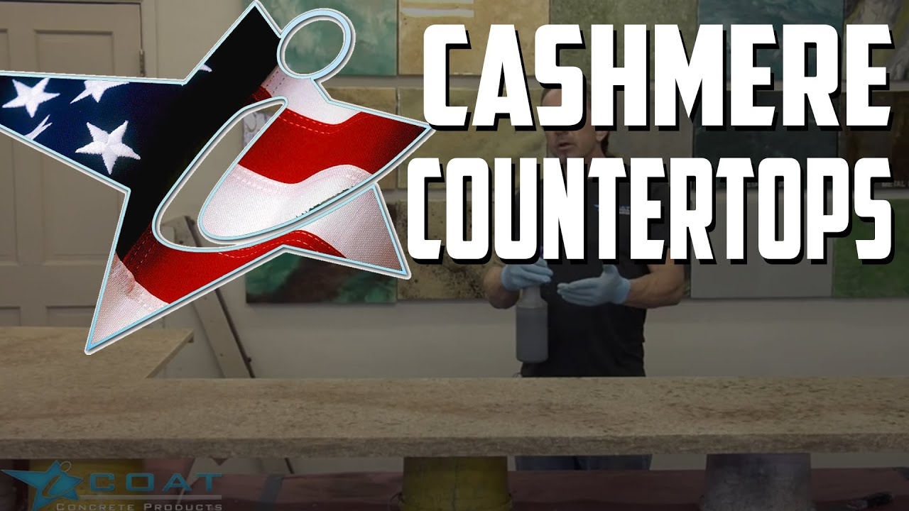 Coloring Concrete Countertops Cashmire Gold - YouTube