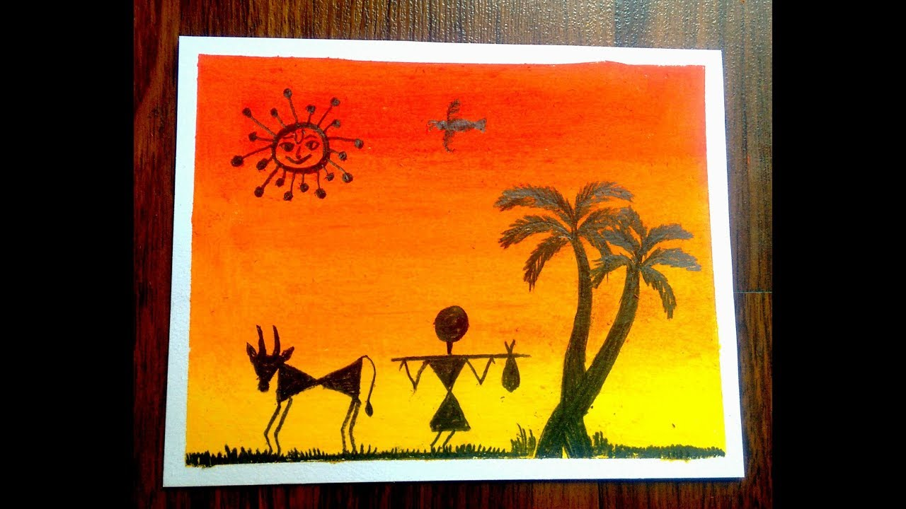 Easy Warli Art Painting Images