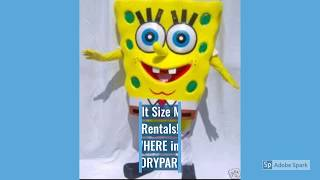 Spongebob Birthday Party Costume Character Entertainers | Rent Spongebob Adult Sized Mascot Costume