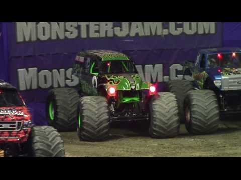 Monster Jam Wheelie Contest At Budweiser Gardens 2017
