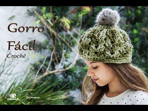 Gorro de Crochê - Gorro Fácil - Professora Simone - YouTube adda71b95cb