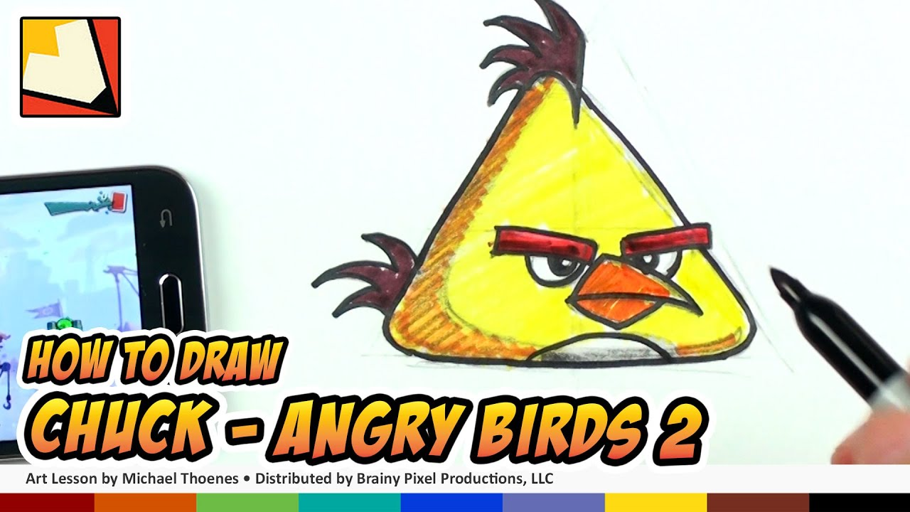 How To Draw Angry Birds 2 Characters - Chuck