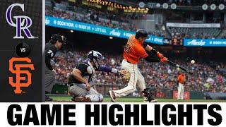 Rockies vs. Giants Game Highlights (8/13/21)