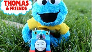 Thomas the Train Accidents Happen with Sesame Street Cookie Monster!