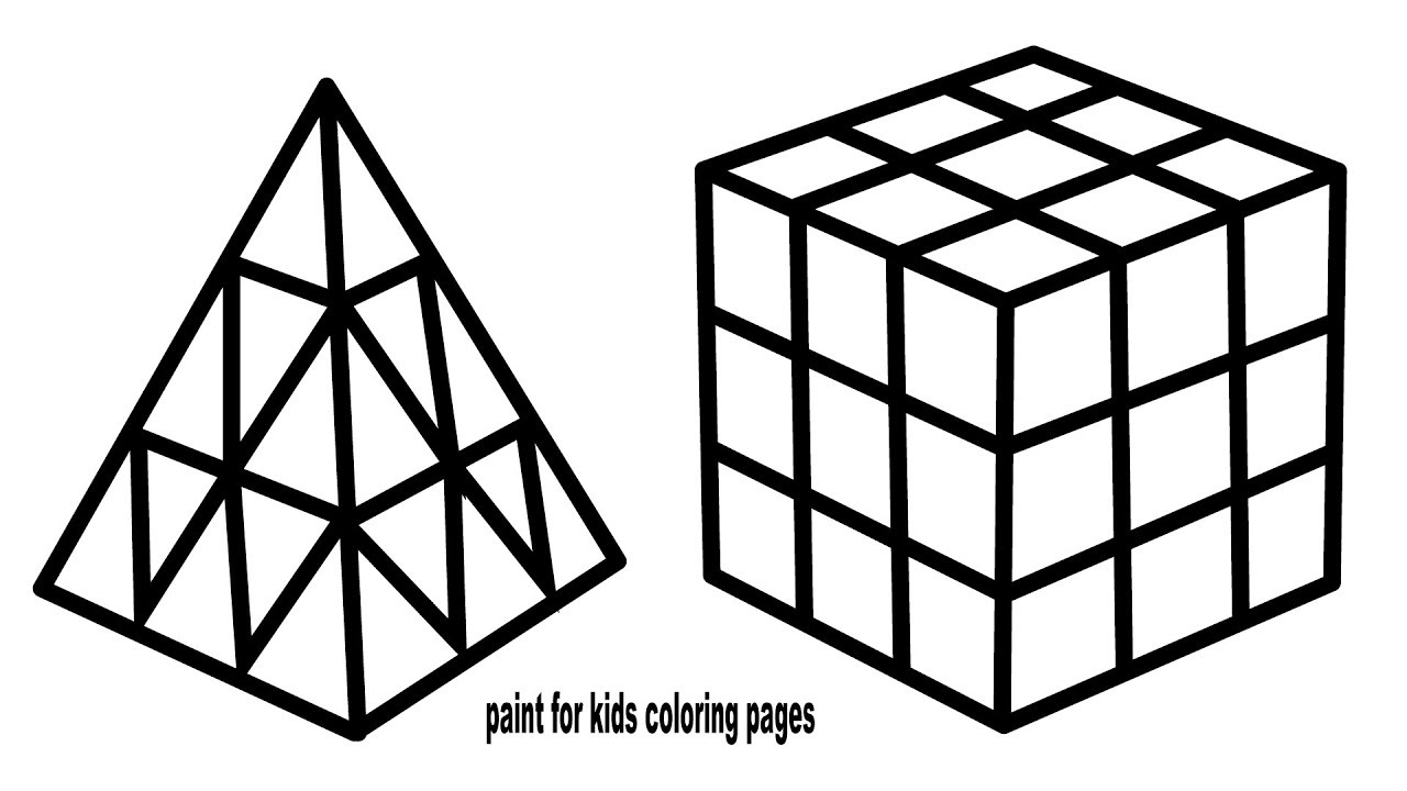 Rubik's Cube Drawing and Coloring, How to Draw Rubik's