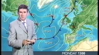 BBC Weather 29th July 2002: 32.6°C at RAF Northolt