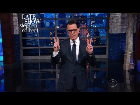Stephen Colbert Creates Some #FlakeNews