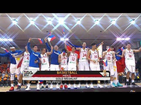 GILAS PILIPINAS - Men's Basketball Awarding (VIDEO) SEA Games 2017