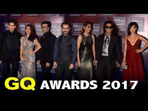 GQ Awards 2017 India Full Red Carpet Show | Aamir Khan, Ranveer Singh, Anushka Sharma,