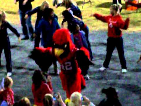Mascot getting down @ halftime