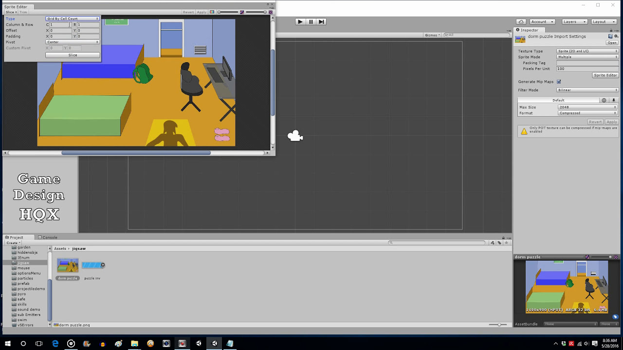 Unity 5 - How To Make A Jigsaw Puzzle Game - Part 1  Design And Deploy  16:22 HD