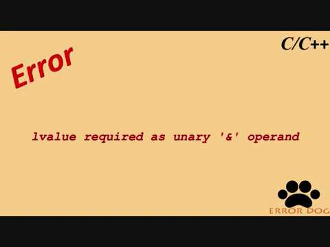 lvalue required as unary & operand