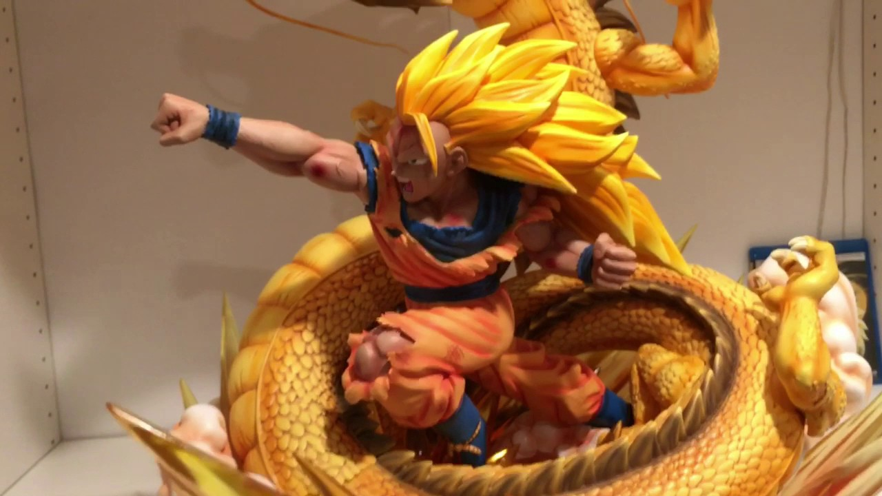 dragonball xceed goku dragon fist 14 statue review youtube