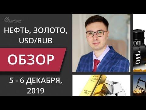Цена на нефть, золото XAUUSD, курс доллар рубль USD/RUB. Форекс прогноз на 5 - 6 декабря LiteForex