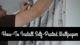 How To Hang Pre-pasted Wallpaper for Beginners (paper by Bouclair Home) - DIY