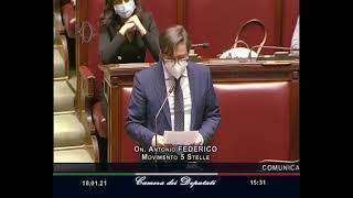 L'intervento alla Camera dei Deputati di Antonio Federico