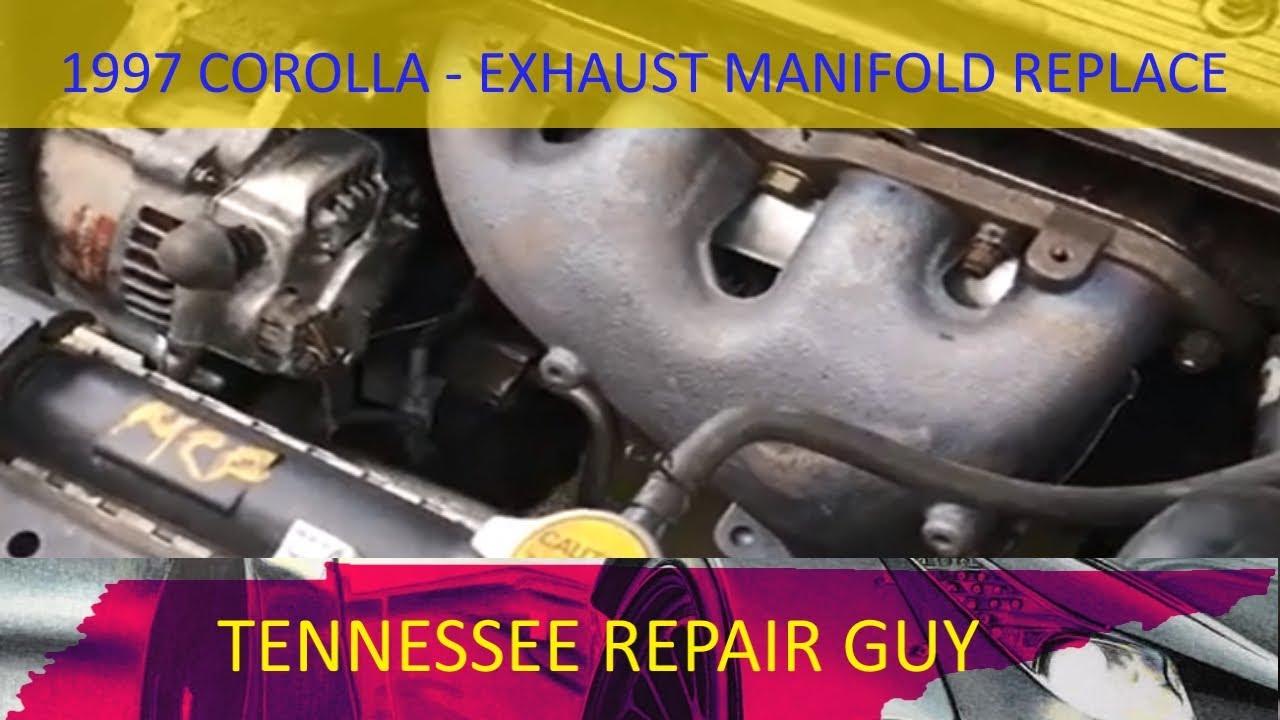 1993 1997 Toyota Corolla Exhaust Manifold Replacement Youtube 1996 Geo Prizm Engine Diagram
