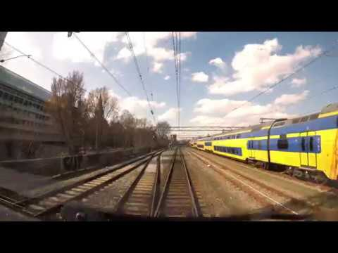 Cabinerit 4K Amsterdam CS – Den Haag CS met IC 2155 - 22-03-2017 [CAB VIEW]