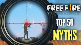 Top 50 Myths in Freefire Battleground Compilation I Ultimate Guide To Become A Pro