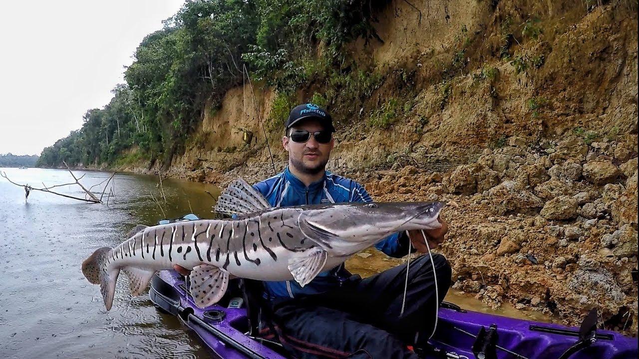 RIO DOS MONSTROS, com direito a receita de peixe assado no barranco! Pescaria.